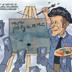 Cartoon: Macron presents his program