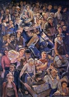 Painting of Paris Exodus