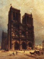 Painting of Notre Dame circa 1835