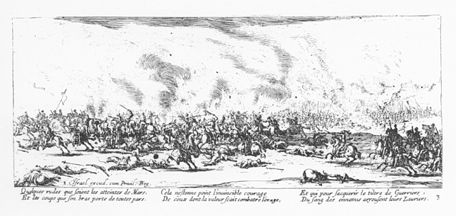 Plate 3, The Battle