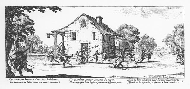 Plate 4, The Pillage of an Inn