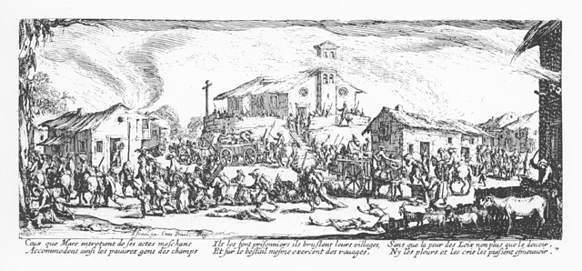 Plate 7, The Pillage and Burning of a Village