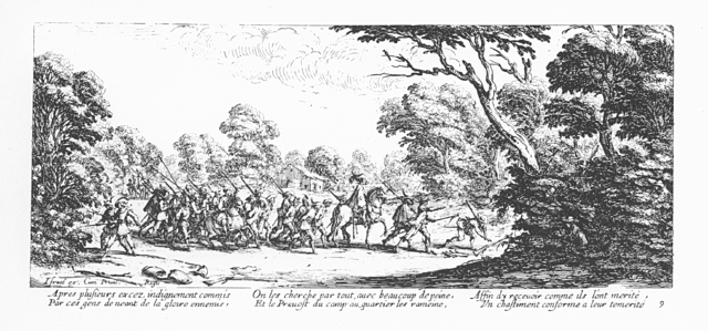 Plate 9, Arrest of Rogue Soldiers