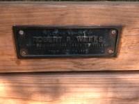 Dedication plaque for Robert P. Weeks