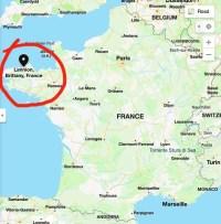 Map: Lannion, France