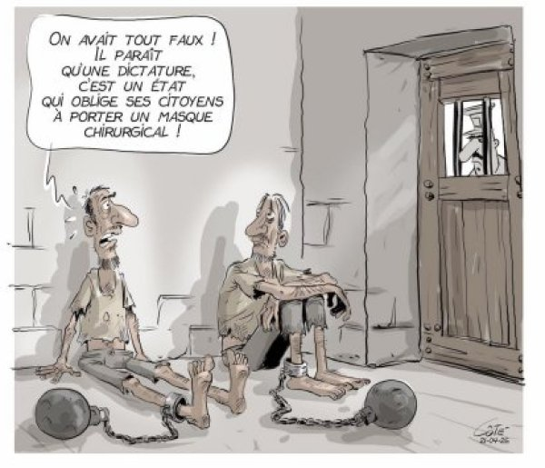 Cartoon by André-Philippe Côté