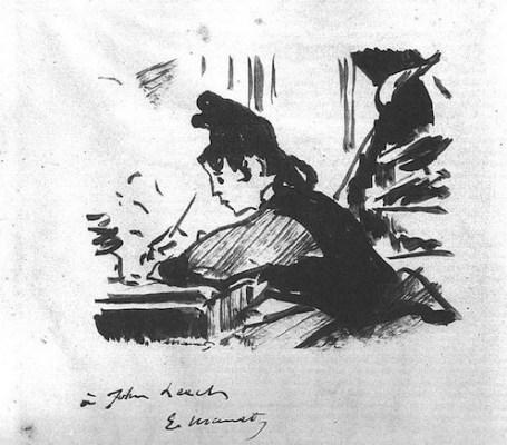Woman Writing, Manet