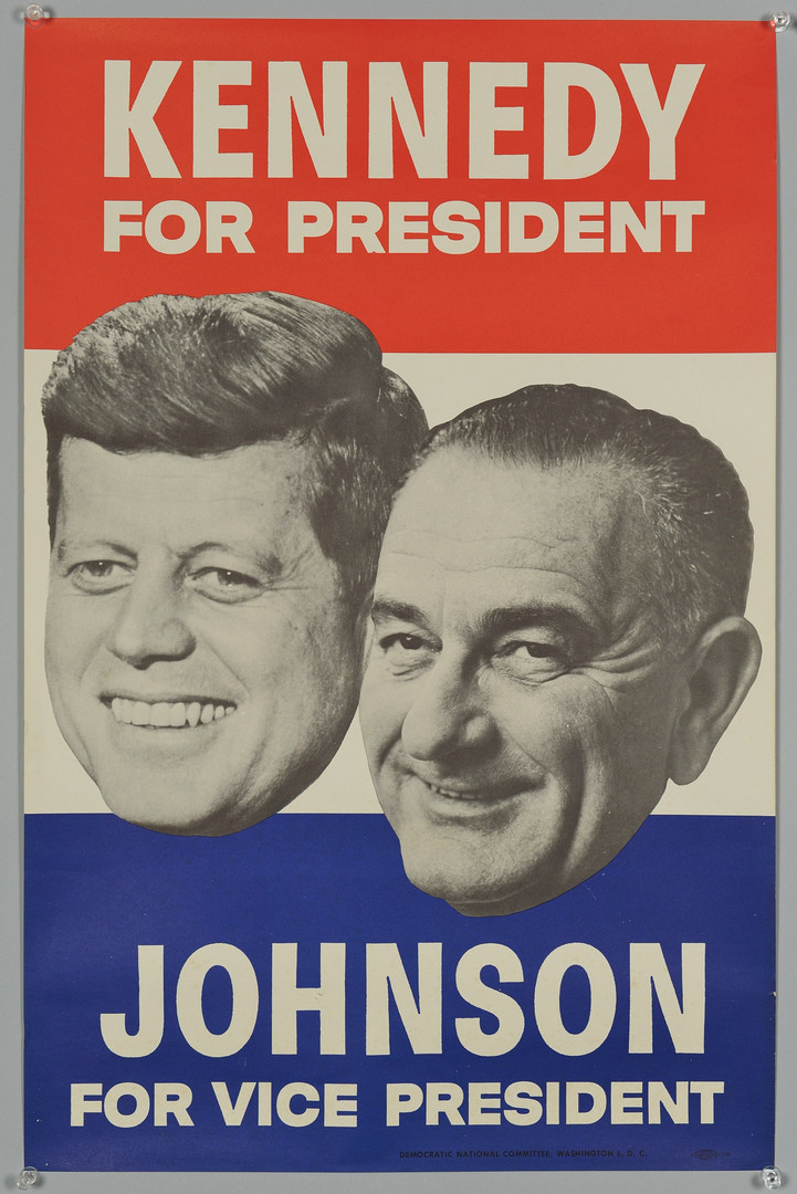lot 259 two 1960 john f kennedy campaign posters case antiques