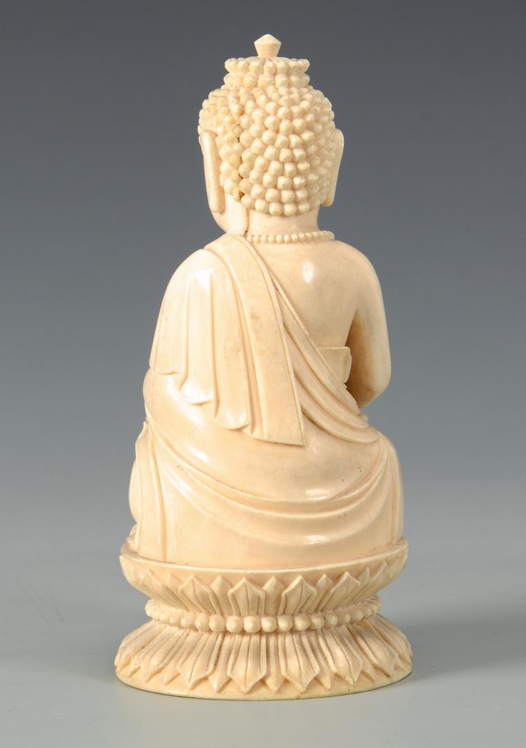 Lot 24 Antique Ivory Buddha