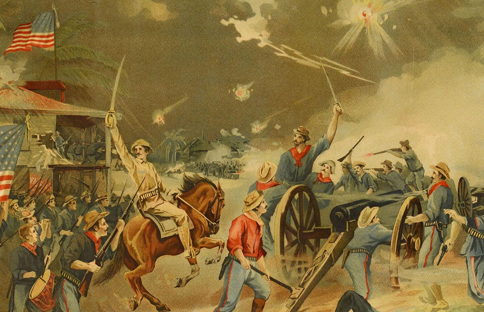 Lot 536 Spanish American War Lithograph
