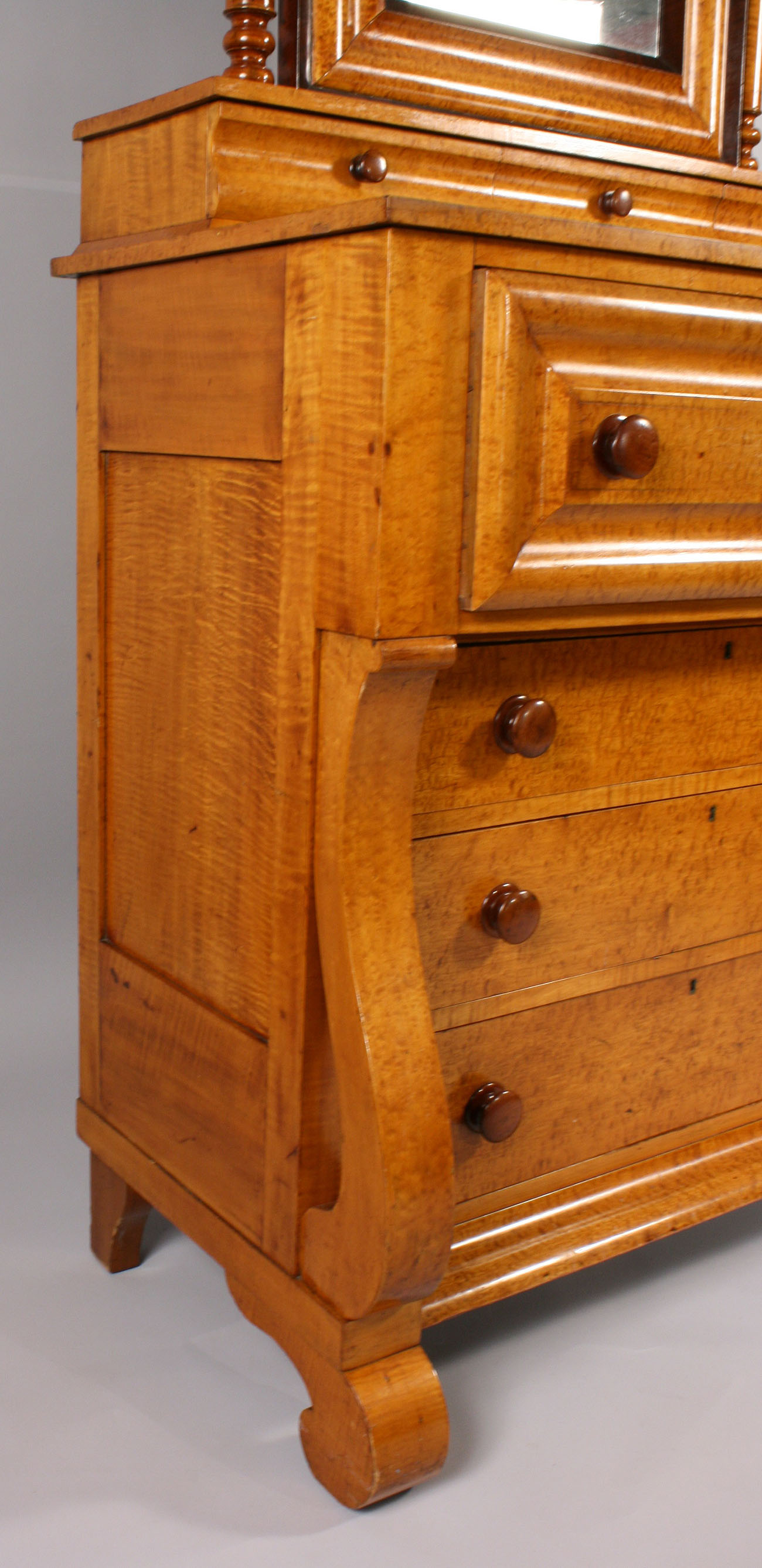 Lot 187 Early Empire Tiger Maple Amp Cherry Dresser
