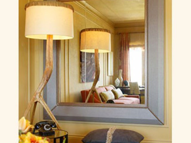 Image result for mirror behind a lamp