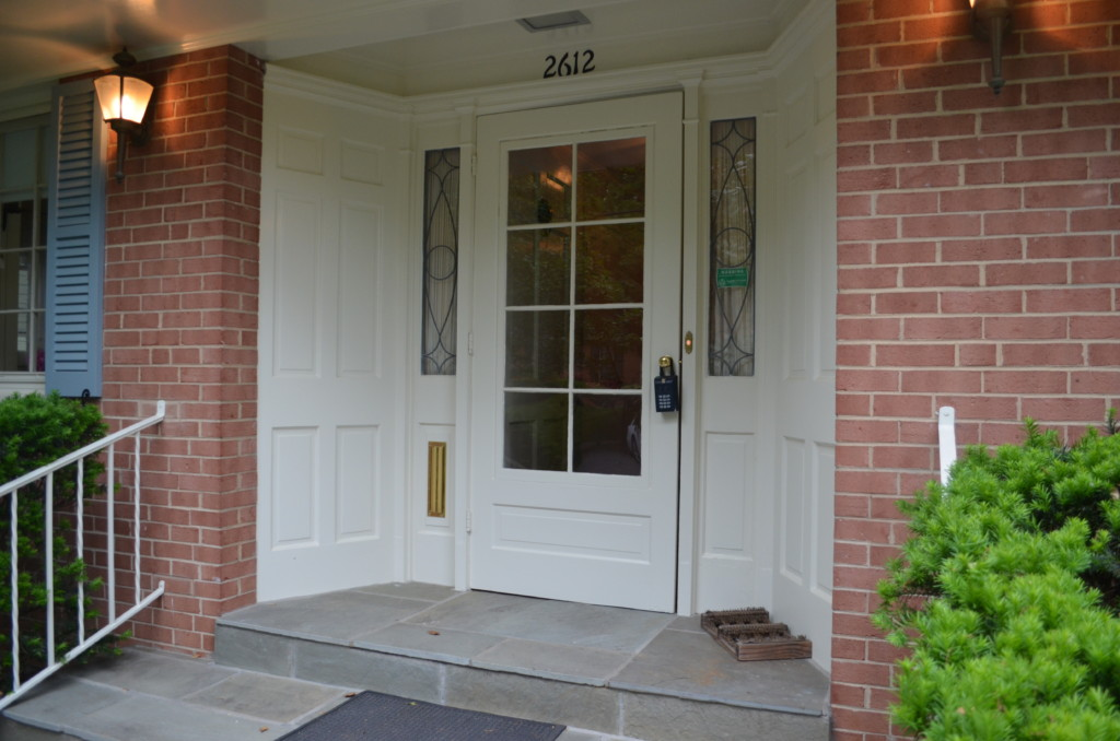 Before front door