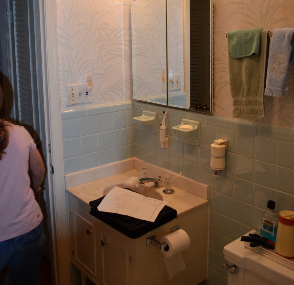 Before photo of secondary bathroom