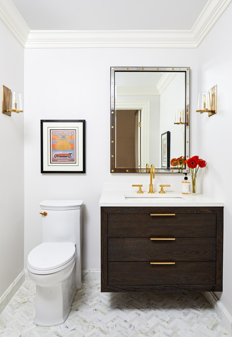 wall mount floating bathroom vanity with mirror