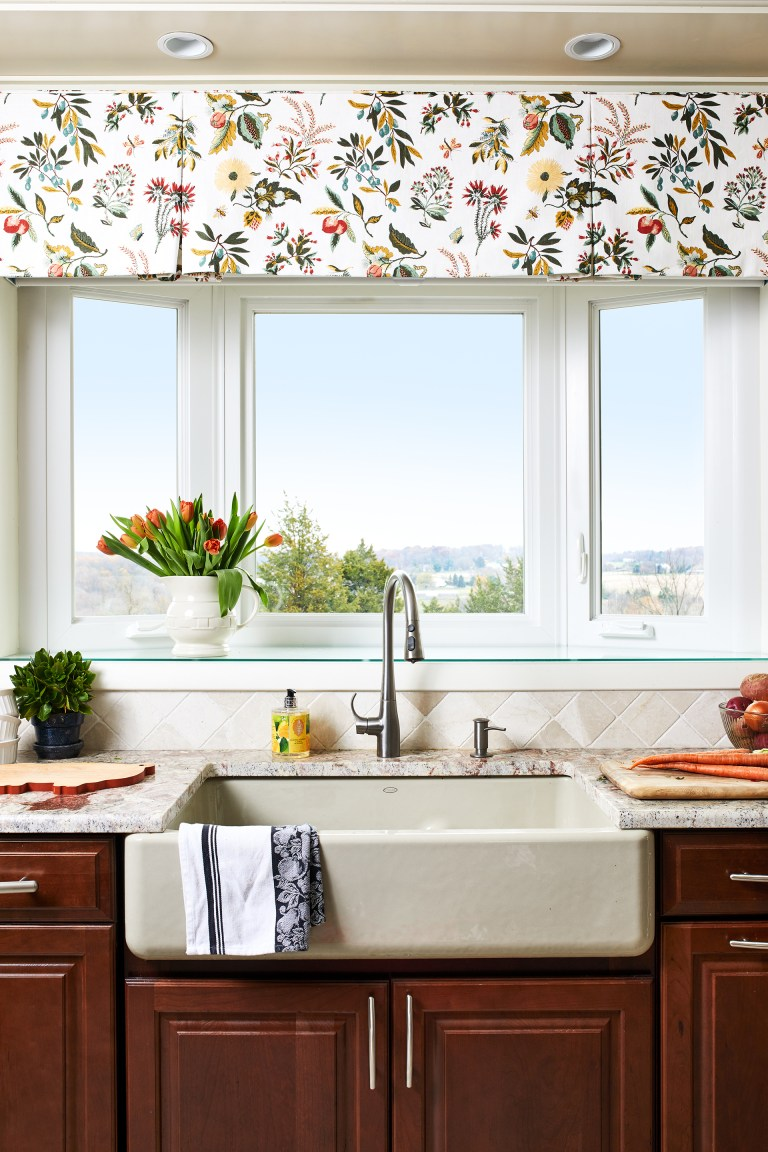 maryland home remodeler kitchen with farmhouse sink below window