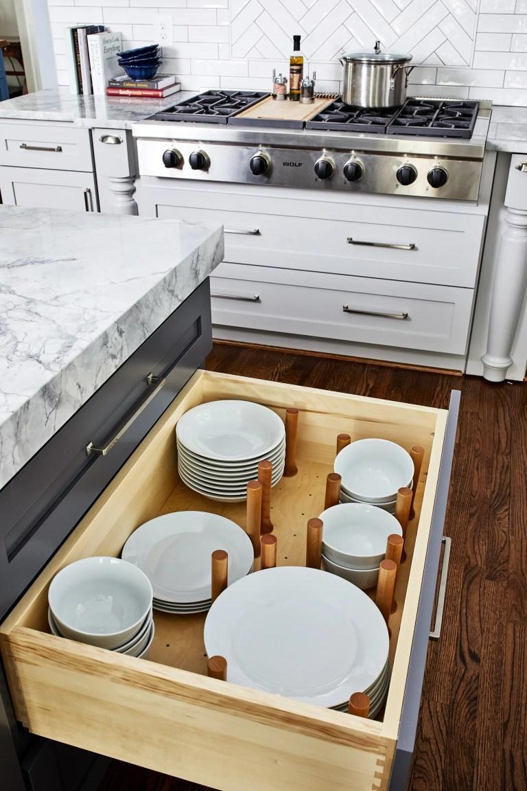 case design kitichen drawer plate orgaizer