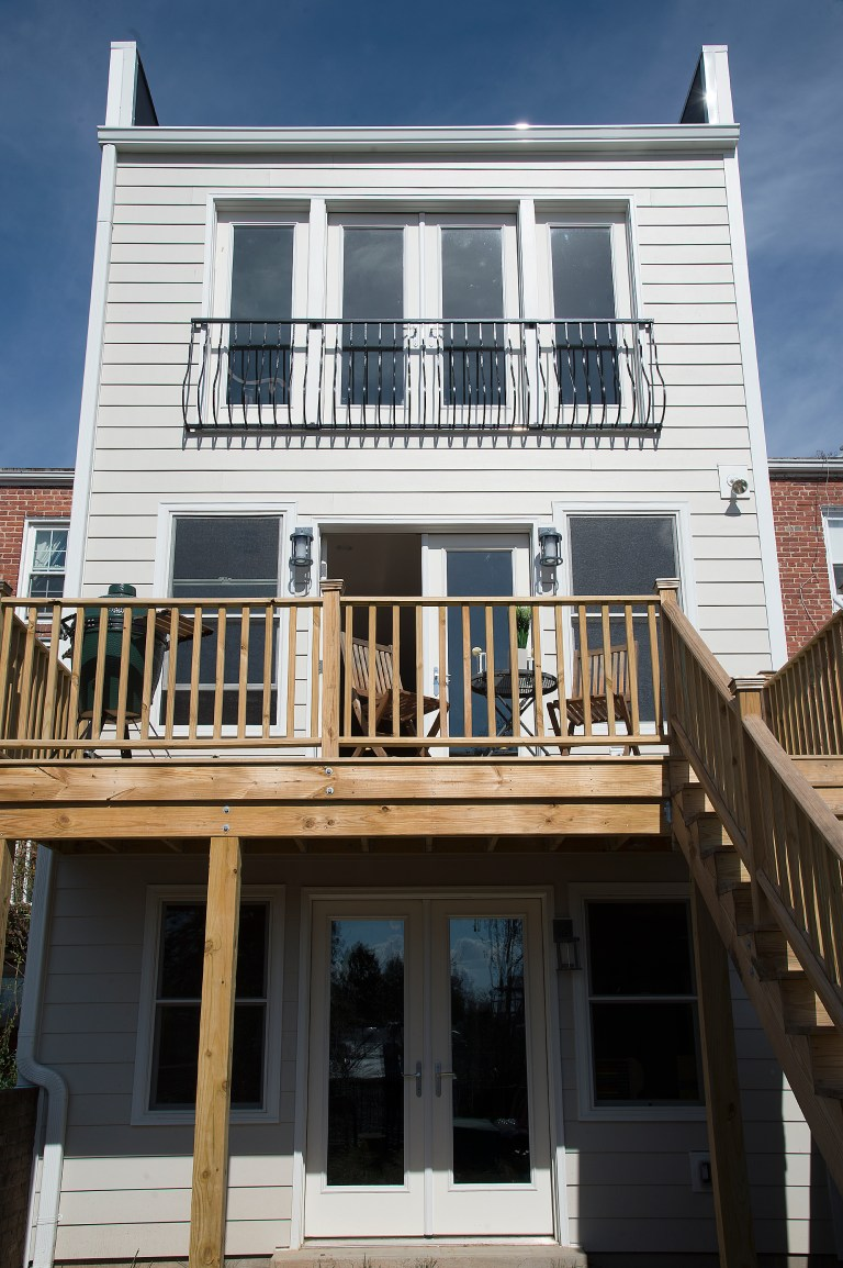 second story deck addition on DC home