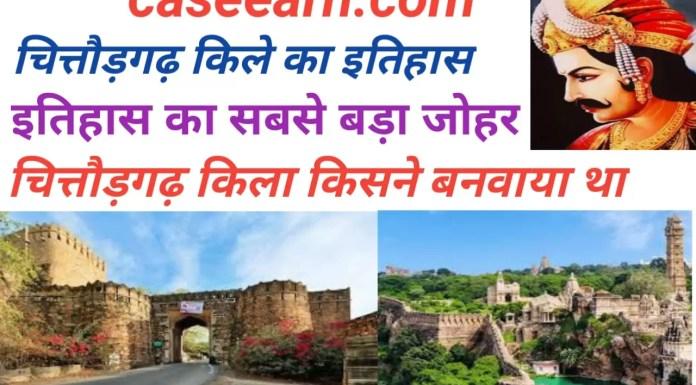 chittorgarh fort history in hindi. चित्तौड़ का किला किसने बनवाया था ?