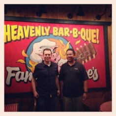 Famous Dave's with Jamil