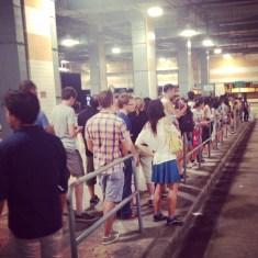 Taxi queue back home