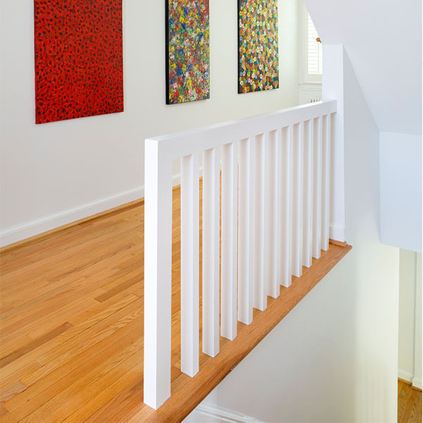 Two Story Addition stairway landing