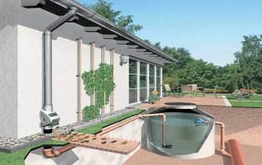 L'impianto di recupero dell'acqua piovana è un sistema intelligente per limitare lo spreco d'acqua.