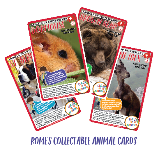 CASE OF ADVENTURE Rome's Collectable Animal Cards1