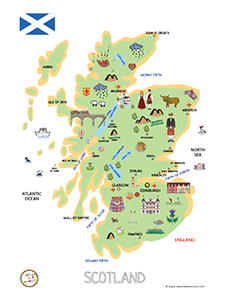 Scotland For Kids Program With CASE OF ADVENTURE - Map videos for kids