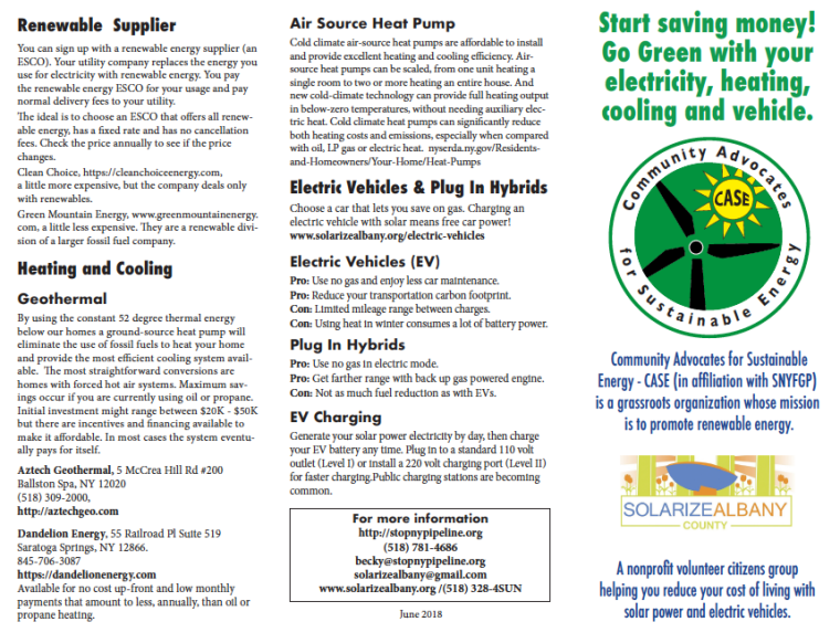 Go Green brochure page 1