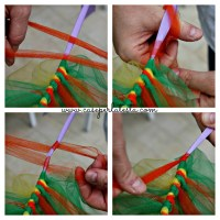 Come fare un tutù senza cucire * How to make a tutu without sewing