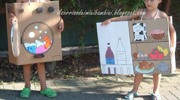 Fridge and washing machine costume