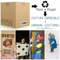 Costumi di carnevale fai da te con scatola di cartone * DIY Carnival costumes with cardboard  box
