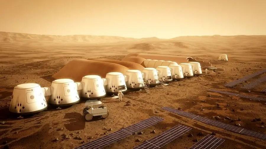Case din materiale reciclate pe planeta Marte