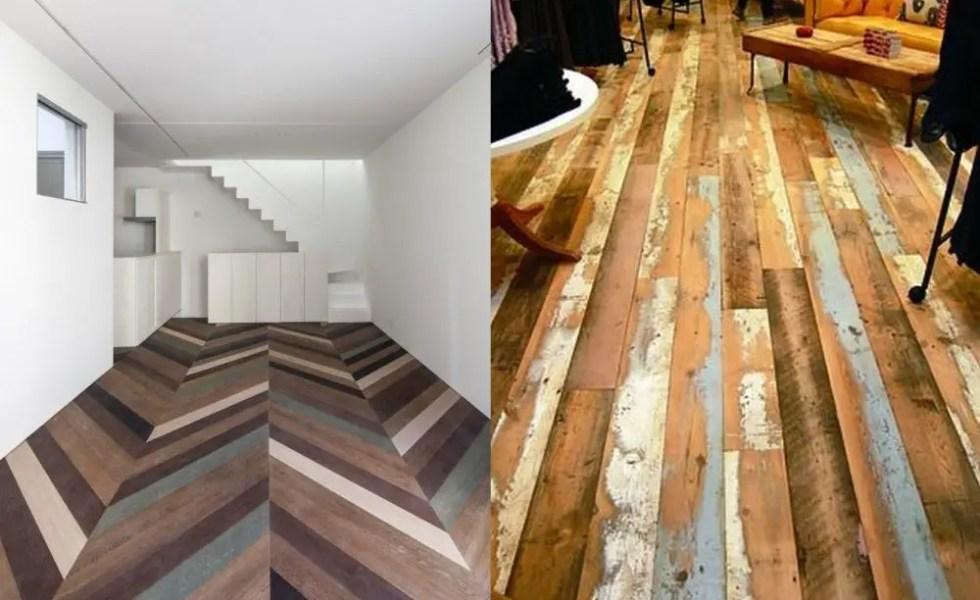Podele din lemn refolosit in casa