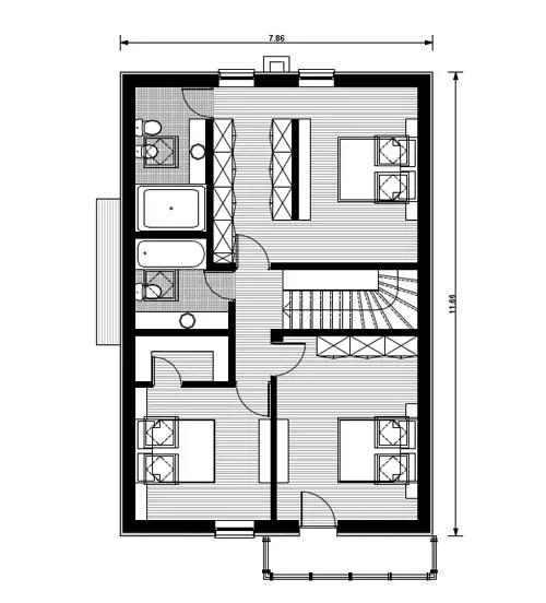 Proiecte de case cu beci si garaj la oras