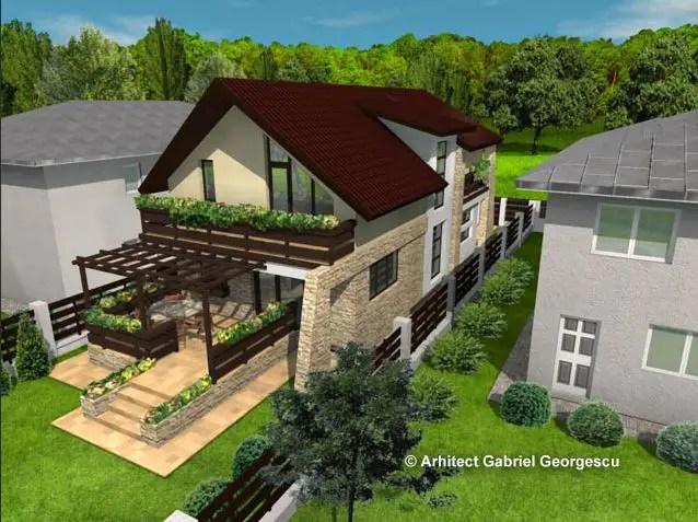 Proiecte de case pe terenuri mici la oras