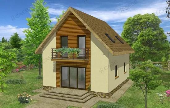 Proiecte de case pe terenuri mici for Case cu mansarda mici