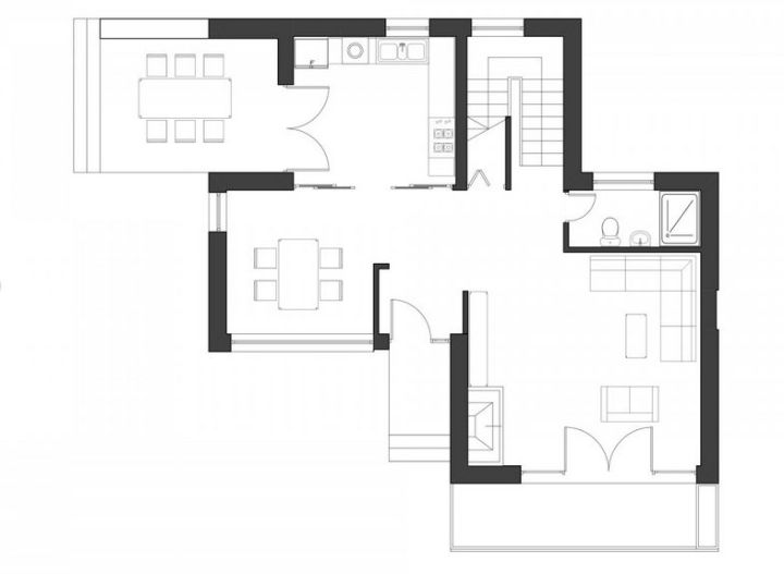 proiecte de case moderne Modern home plans with courtyard 6