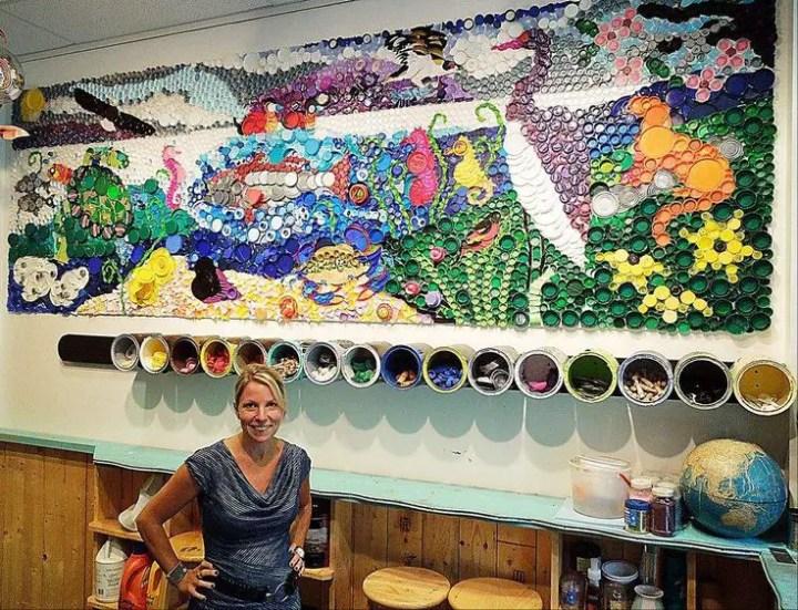 Ce poti face cu dopurile de plastic de la PET-uri plastic bottle caps crafts ideas