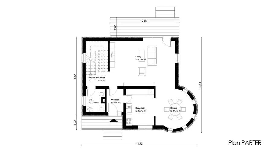 proiecte de case mici cu etaj tiny one story house plans 8