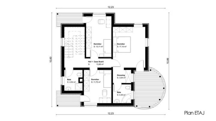 proiecte de case mici cu etaj tiny one story house plans 9