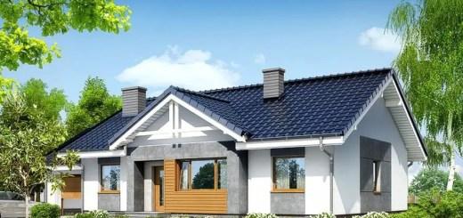Proiecte de case mici fara etaj cu terasa