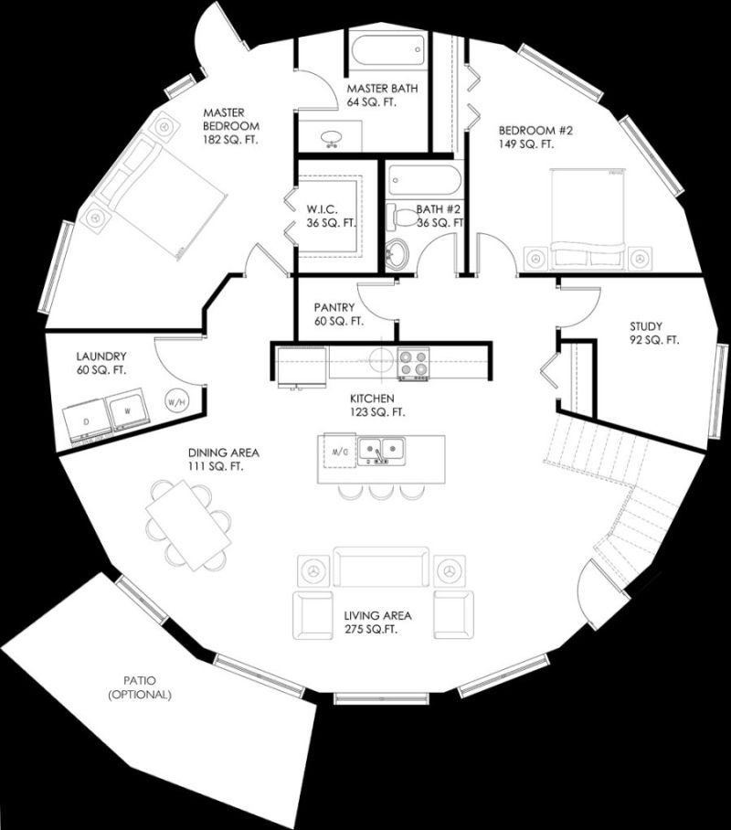 House Plans Open Kitchen And Living Room