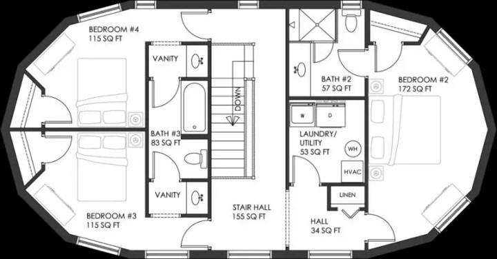proiecte de case rotunde circular house plans 9