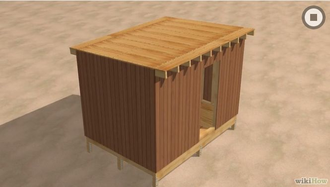 Constructia unei magazii din lemn how to build a wooden shed 9