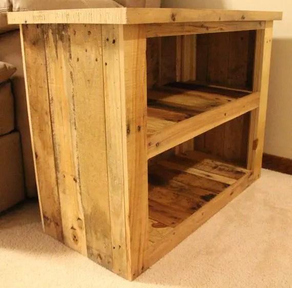 Modele de comode TV din lemn refolosit reclaimed wood tv stand 8