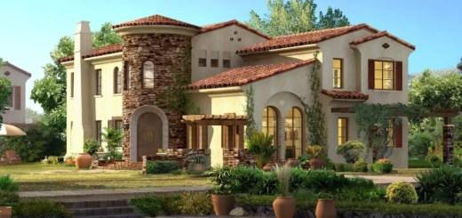 Proiecte de case in stil spaniol si exotic