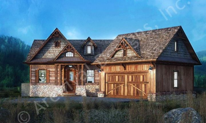 Proiecte de vile la munte din lemn