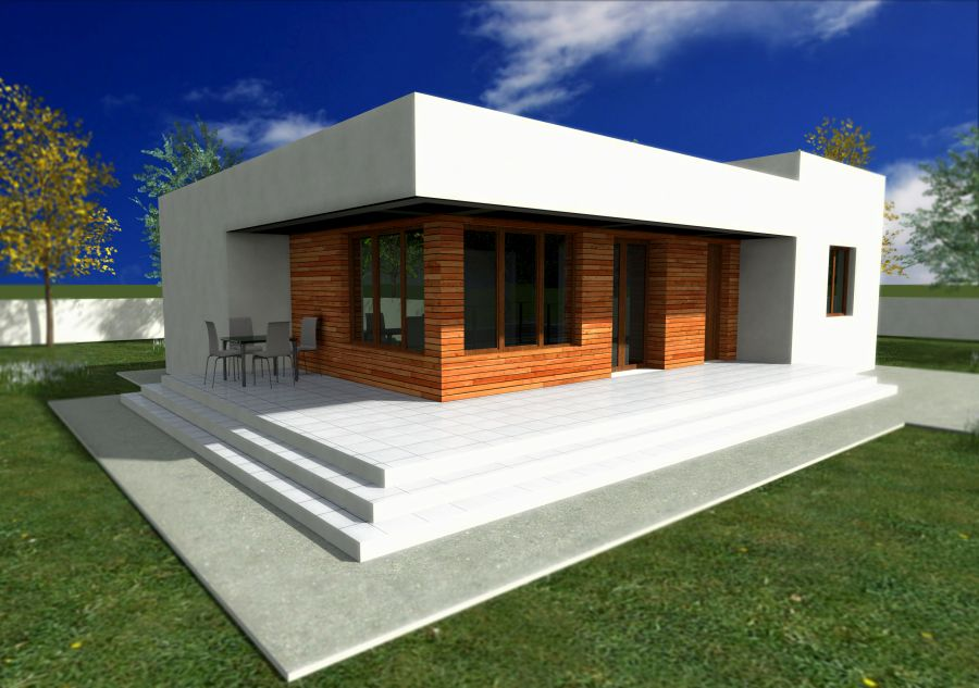 Cele mai frumoase case fara etaj Single story modern house designs